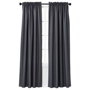 Window Curtain One Panel Thermaback Blackout Gray